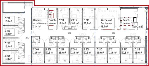 dreige studentenwohnheim 2 obergeschoss. Black Bedroom Furniture Sets. Home Design Ideas